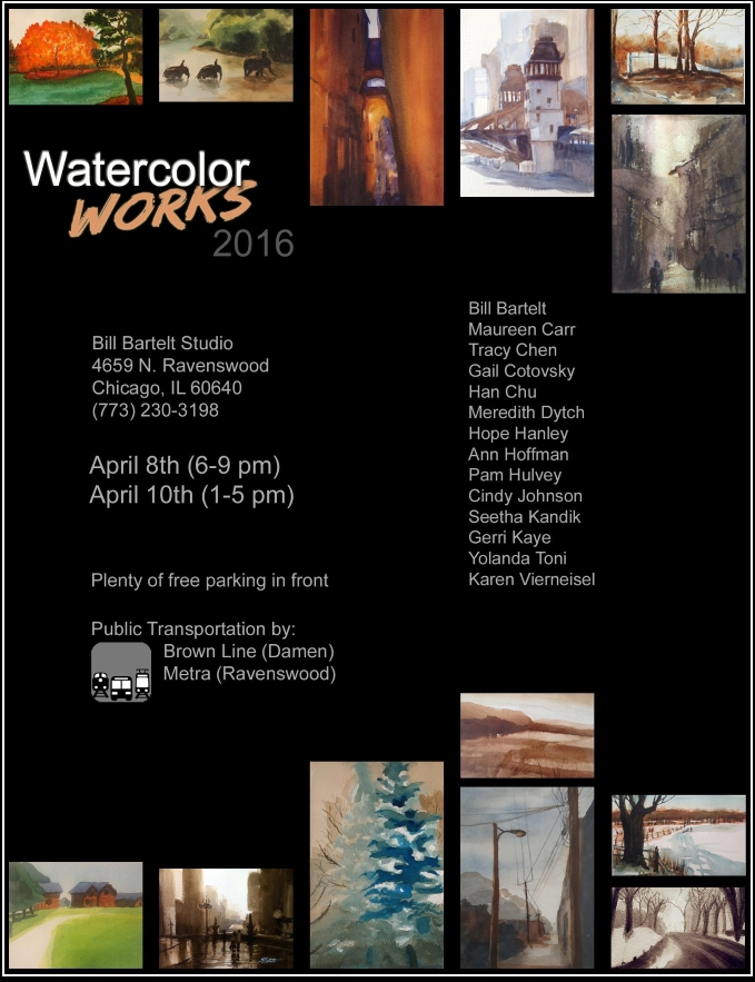 Bill Bartelt Watercolor Works Gallery Exhibition